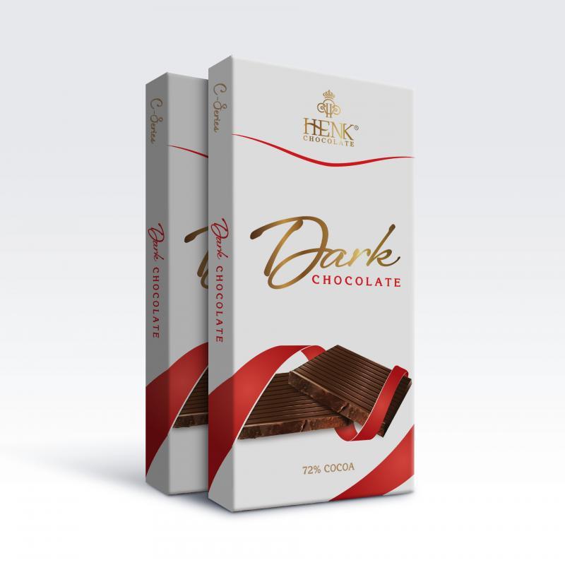 Sô Cô La Đen 72% 100g Henk C-Series