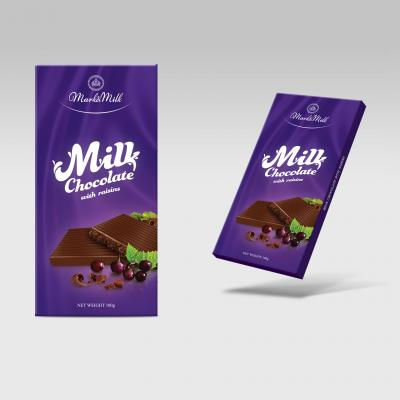Sô cô la sữa nhân nho khô 100g Mark&Milk